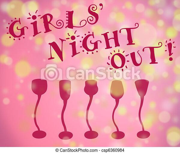 La noche de las chicas - csp6360984