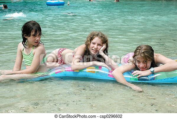 Girls on Float - csp0296602