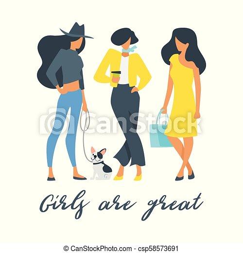 Girls Power Concept