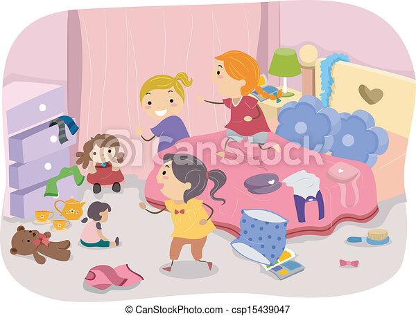 Girls Room - csp15439047