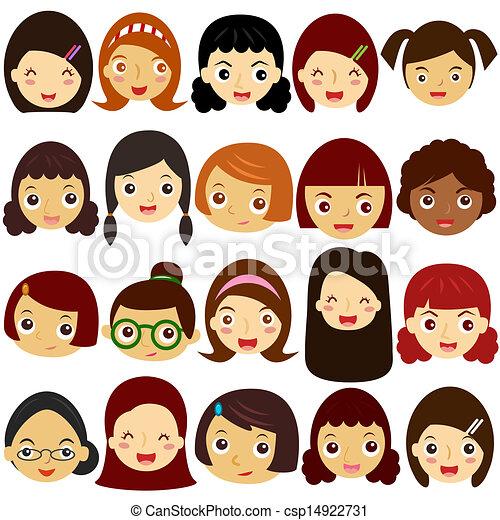 Girls, Woman, Kids (Female Set)  - csp14922731