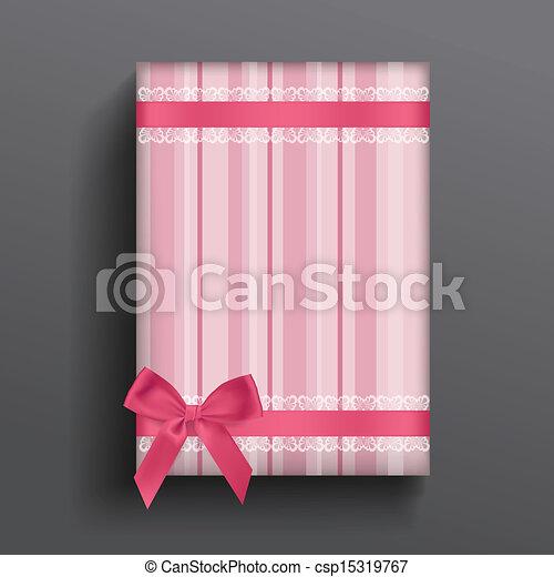 Girly box and bow - csp15319767