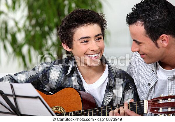 gitaar, les - csp10873949