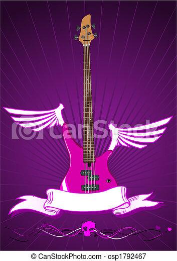 gitaar, moderne, vector, baars, illustratie - csp1792467