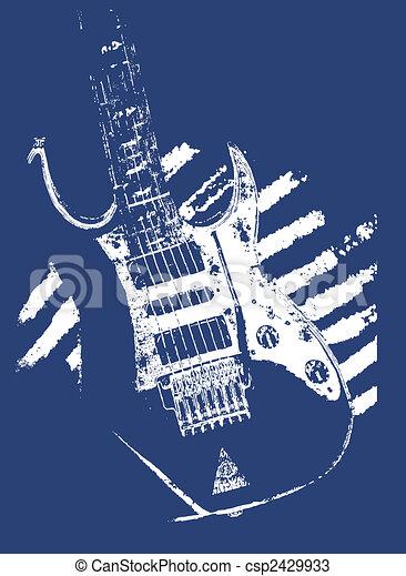 gitara, muzyka, ilustracja - csp2429933