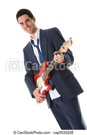 gitarre, mann - csp0533228