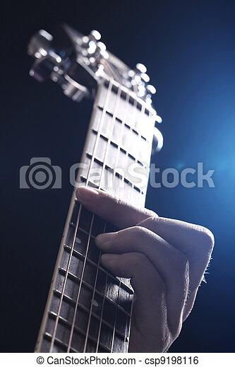gitarre, musiker, spielende  - csp9198116