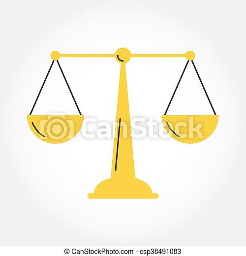 Giustizia Equilibrio Simbolo Bilancia Icona Stile Giustizia