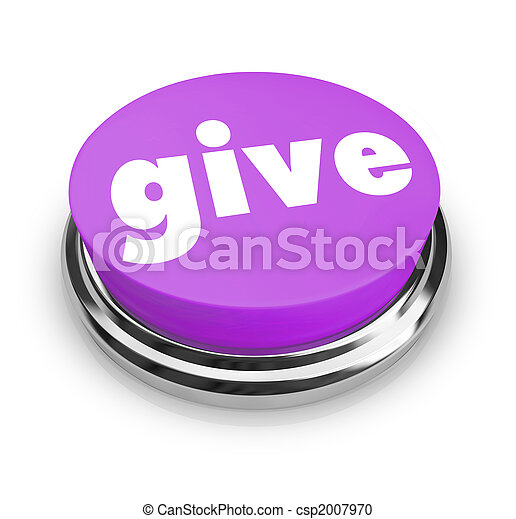 Give - Charity Button - csp2007970