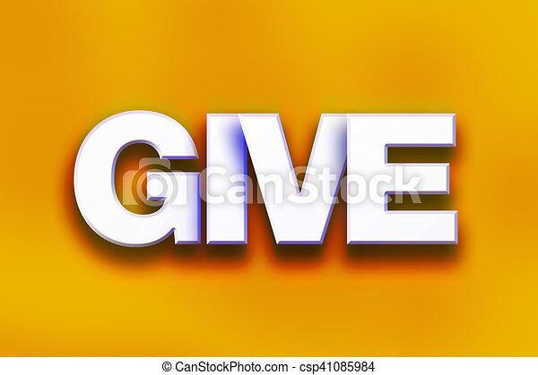Give Concept Colorful Word Art - csp41085984
