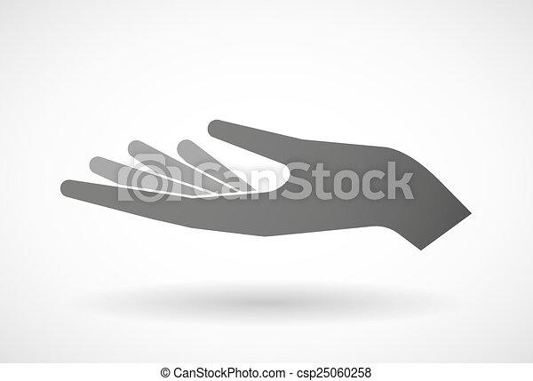 give, hånd - csp25060258