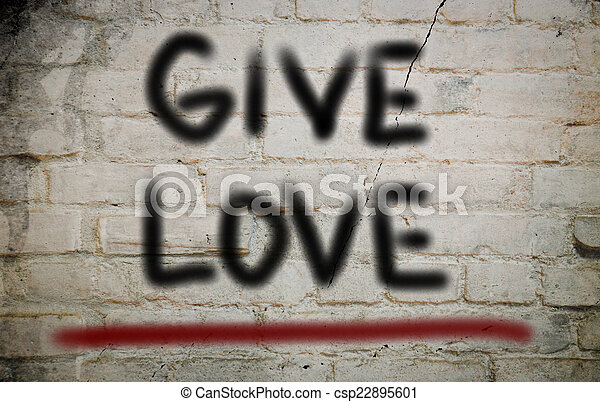 Give Love Concept - csp22895601
