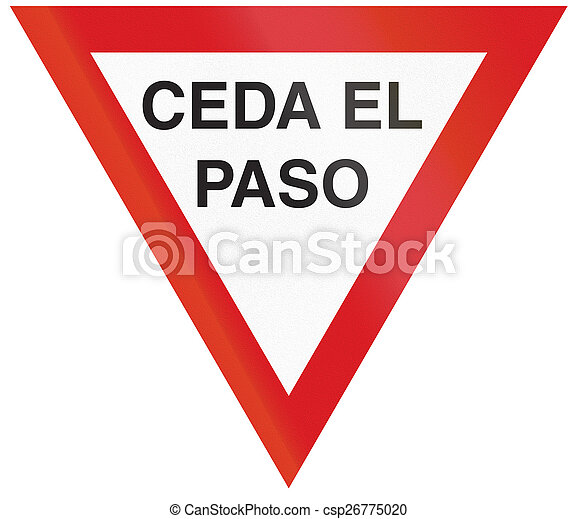 Give Way in Argentina - csp26775020