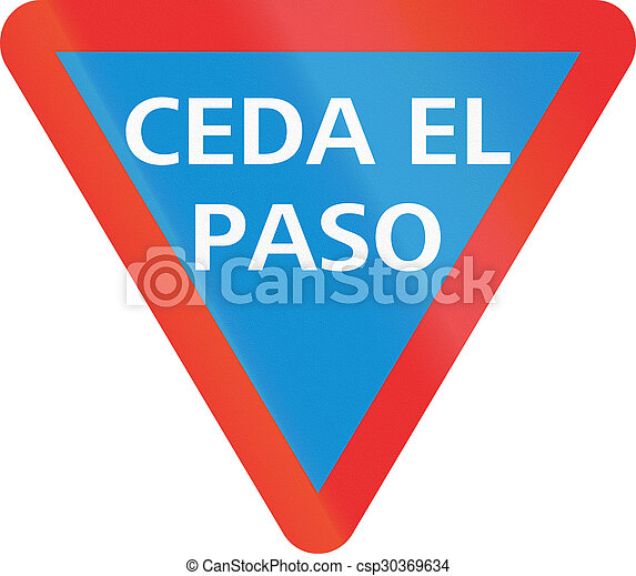 Give Way in Mexico - csp30369634