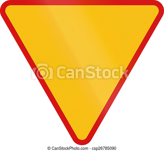 Give Way in Poland - csp26785090