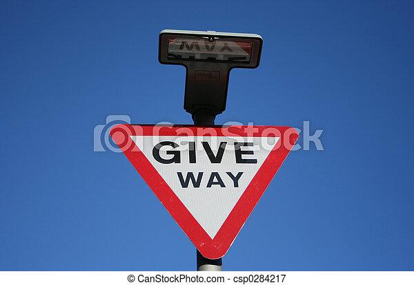 Give Way sign - csp0284217