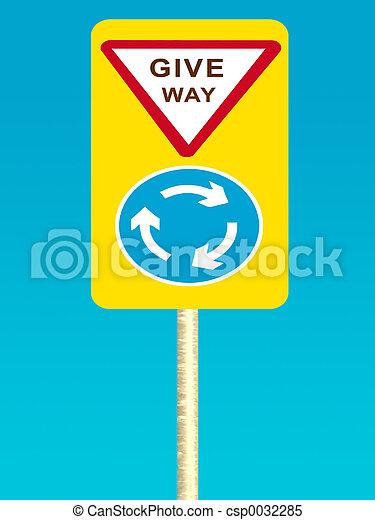 Give way sign - csp0032285