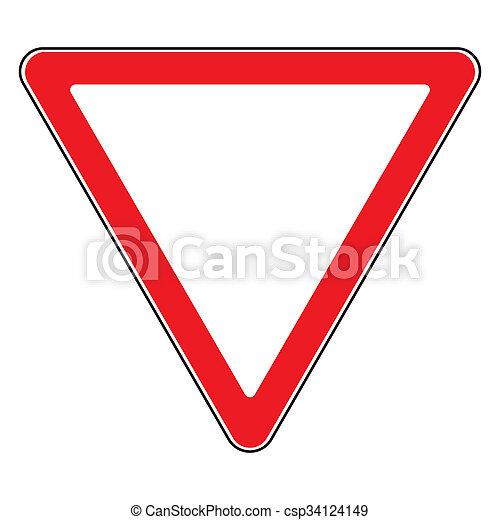 give way sign - csp34124149
