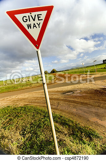 Give Way Sign - csp4872190