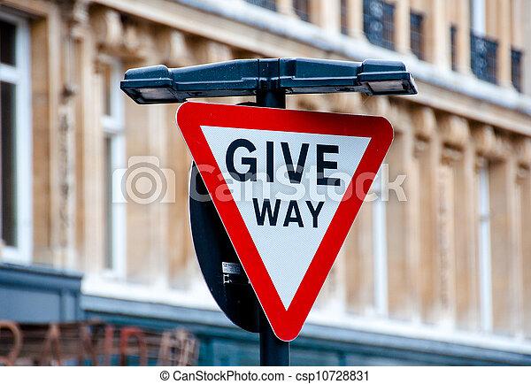 Give way Sign - csp10728831