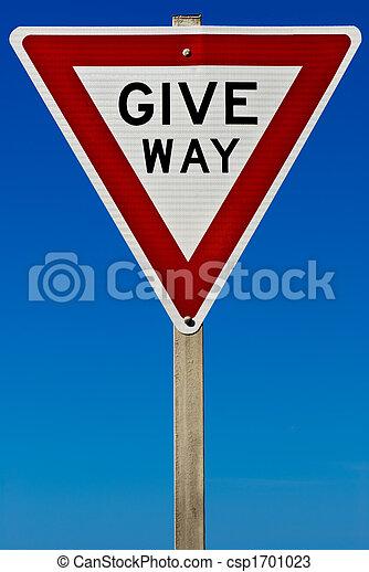 Give Way Sign - csp1701023