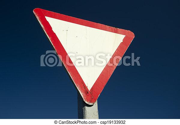 Give way sign - csp19133932