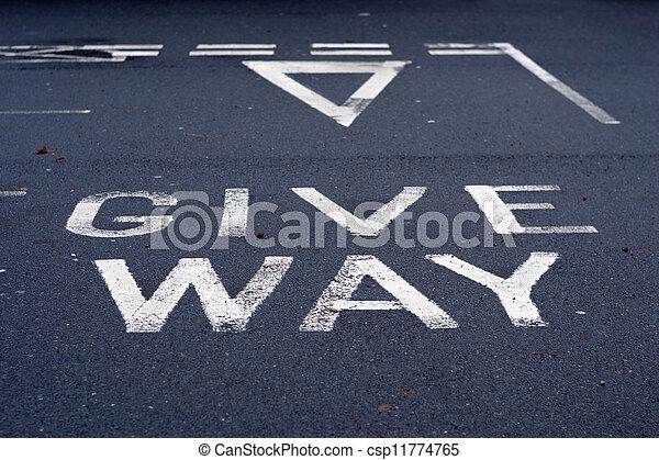 give way - csp11774765