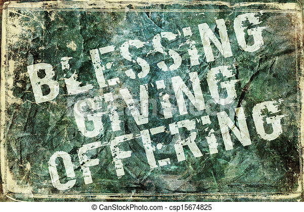Giving Offering Blessing Background - csp15674825
