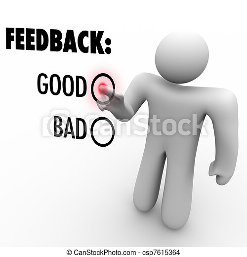 Giving Opinion Feedback Answering Question Touch Screen - csp7615364
