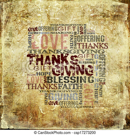 Giving Thanksgiving Blessing - csp17273200