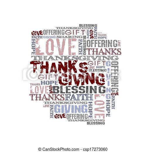 Giving Thanksgiving - csp17273060