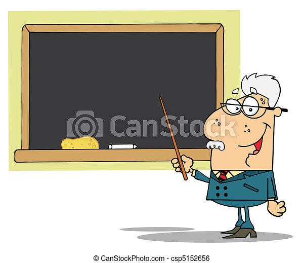 giz, professor, exibido, tábua - csp5152656