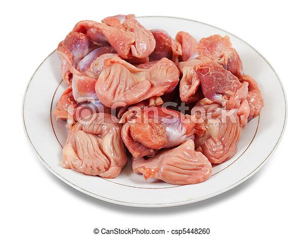 gizzard, crudo, pollo, fresco - csp5448260