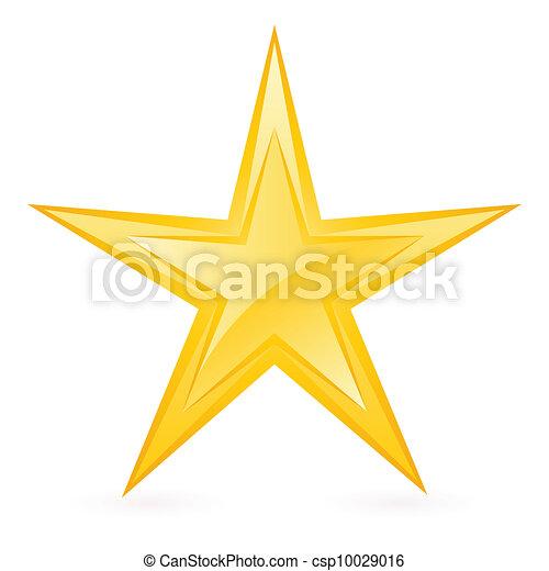 Glänzender Goldstern - csp10029016