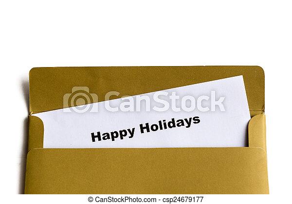 glücklich, feiertage - csp24679177