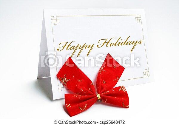 glücklich, feiertage - csp25648472