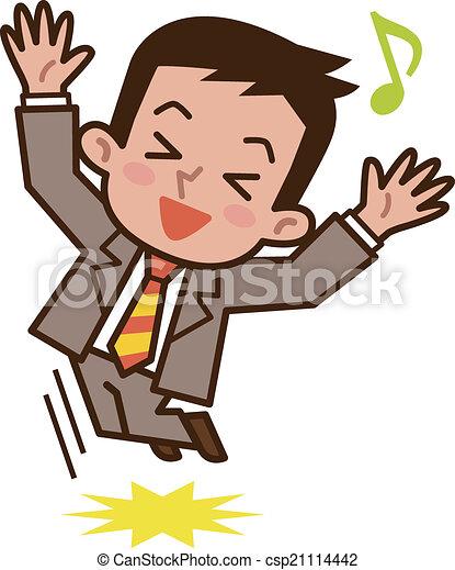 Geschäftsmann springt gerne - csp21114442