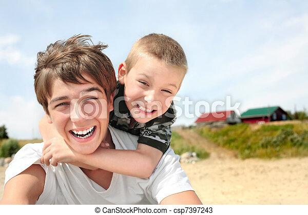 glücklich, teenager, kind - csp7397243