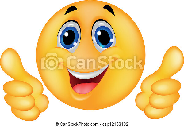 Happy Smiley Emoticon-Gesicht - csp12183132