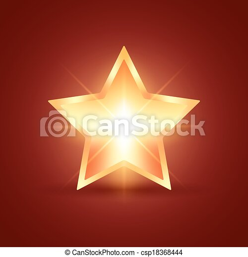 glühen, stern - csp18368444