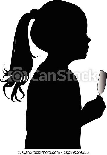 glace, girl, manger - csp39529656
