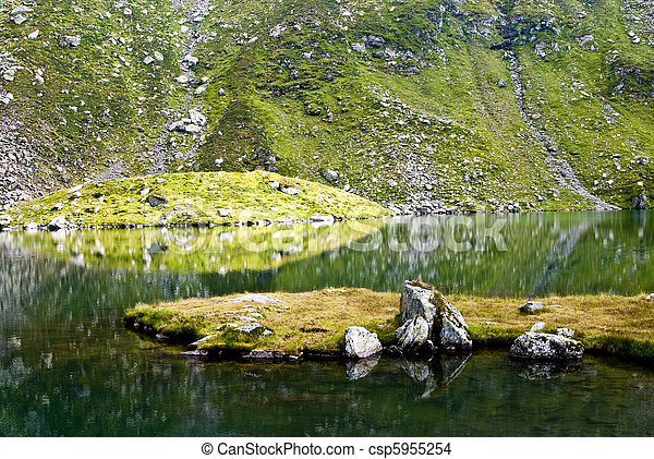 Glacial lake in Fagaras - csp5955254