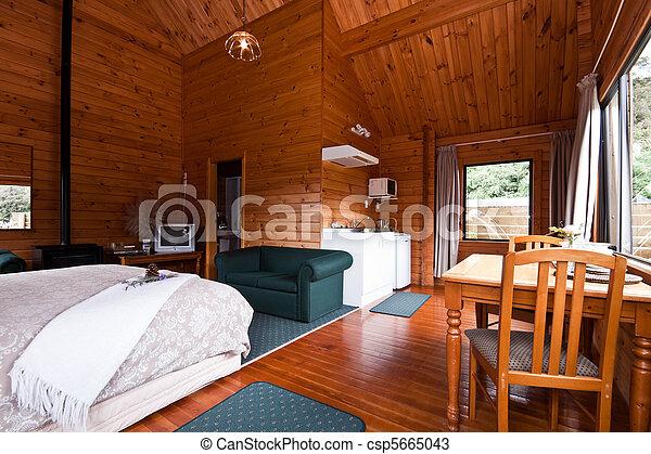 El interior del apartamento de Fox glaciar - csp5665043