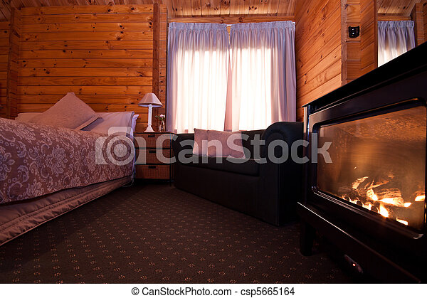 El interior del apartamento de Fox glaciar - csp5665164