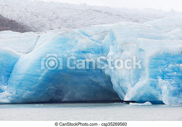 glacier grey from boat - csp35269560