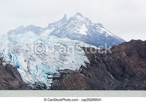 glacier grey from boat - csp35269541