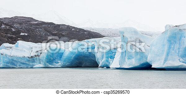glacier grey panorama - csp35269570