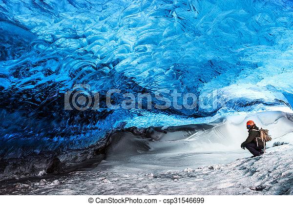 Glacier ice cave of Iceland - csp31546699