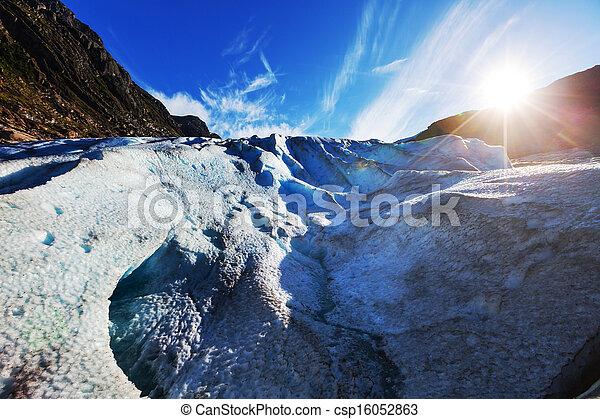 Glacier in Norway - csp16052863