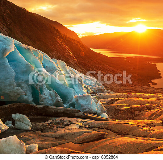 Glacier in Norway - csp16052864
